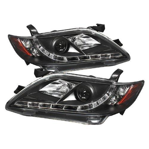 Spyder Auto PRO-YD-TCAM07-DRL-BK Toyota Camry Black DRL LED Projector Headlight