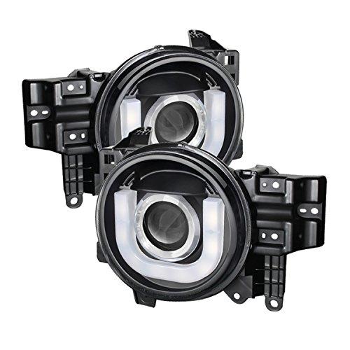 Spyder Auto PRO-YD-TFJ07-3DDRL-BK Toyota FJ Cruiser Black 3D DRL LED Projector Headlight