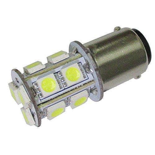 GLMING Ba15d 1076 1142 1004 Car LED Bulb Internal light Tail lights Turn signal light 13-5050SMD ACDC 12V-24V Cool White Pack of 2