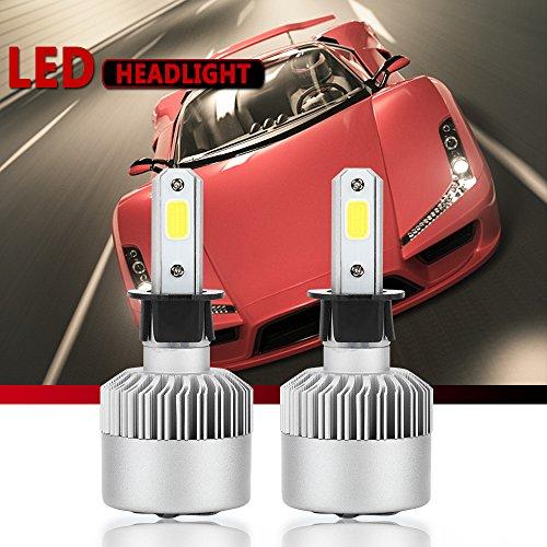H3 LED Headlight Conversion Kit S2 Auto Car Led Headlamp Car COB Bulbs 6000K 9W-36W Cool White 7600LM All-in-One Error Free Design H3