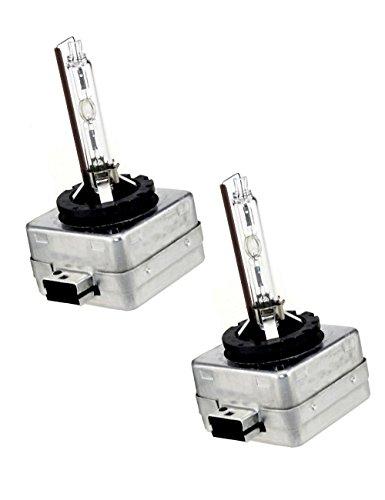 D1S Xenon HID Headlights Bulb - 4300K 6000K 8000K - Pack of 2 - Sinoparcel 6000K
