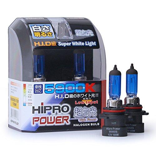 Hipro Power 9006XS 5900K 100 Watt Super White Xenon HID Headlight Bulb - Low Beam