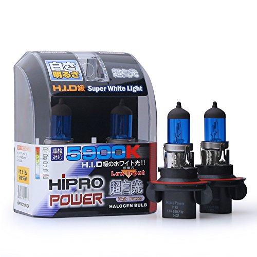 Hipro Power H13 9008 Super White Xenon HID Headlight Bulbs - Low High Beam