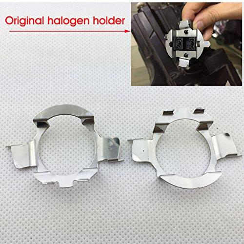 2pcs Nissan Audi VW Bora Magotan LED H7 Headlight Holder Bulb Adapter Socket