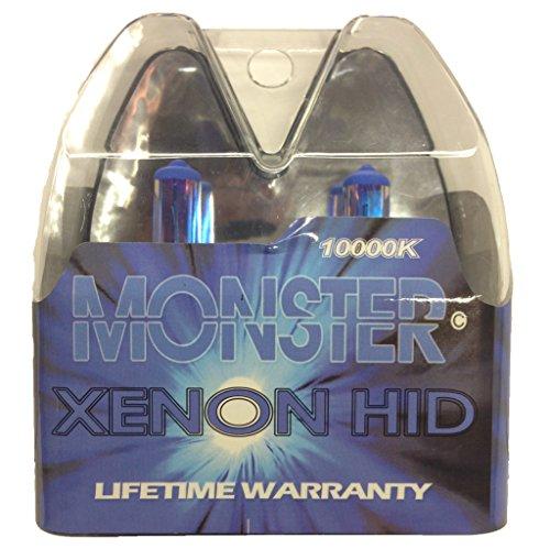 EuroDezigns H7 Monster Blue Headlights - Low Beam 10000k Xenon-Krypton HID Halogen Replacement Bulbs - Pair