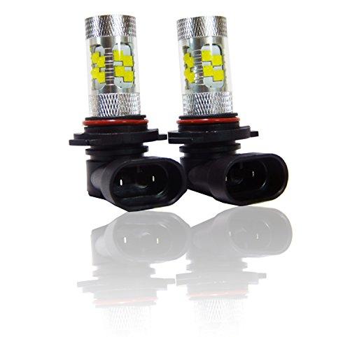 Genssi Elite 100W Chips White LED Light Bulbs Headlight 9012 HIR2 Pack of 2
