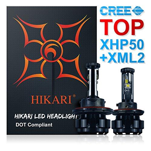 HIKARI LED Headlight Bulbs Conversion Kit-H139008 HiLo Top CREE XHP50XM-L2 9600lm 6K Cool White2 Yr Warranty