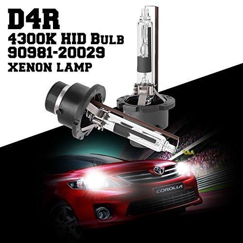 Hoypeyfiy Pair 4300K D4R HID Bulb Headlight for Toyota Prius 2006-2009 part 90981-20029 New