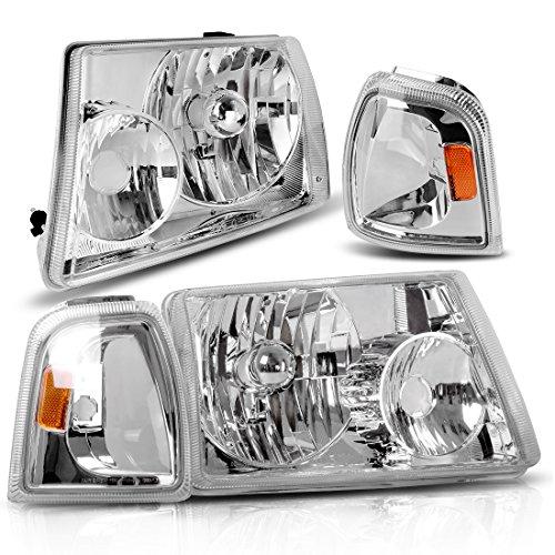 AUTOSAVER88 01 02 03 04 05 06 07 08 09 10 11 Ford Ranger Headlight AssemblyCorner lightOE Projector HeadlampChrome housingOne-Year Limited WarrantyDriver and Passenger Side,4pcs