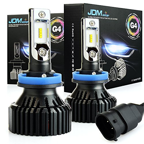 JDM ASTAR Newest Version G4 8000 Lumens Extremely Bright AEC Chipsets H11 H8 White LED Headlight Bulbs Conversion Kit for Fog light DRL and Headlights