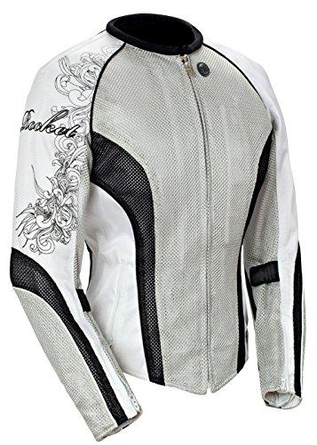 Joe Rocket Cleo 22 Womens Mesh Jacket SilverWhiteBlack Large