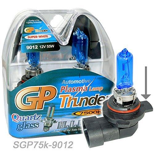 GP Thunder 9012 9012LL HIR2 PX22d 7500k 55W Super White Xenon Quartz Headlamp Light Bulbs For Dodge Impala LT Scion TC 2015 SGP75K-9012