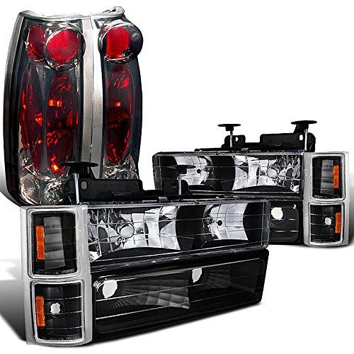 Chevy CK 150025003500 Black Headlight Corner Bumper LampsSmoke Tail Lights