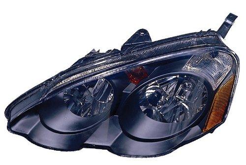 Depo 317-1123P-US2 Acura RS-X Black Headlight Unit - Pair