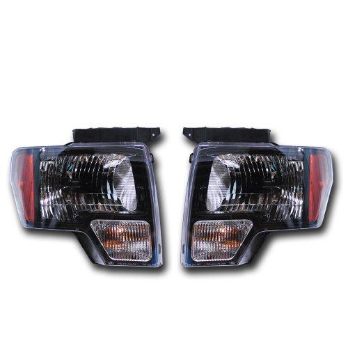 OEM Ford F-150 Black Headlight Pair - SVT Raptor Harley Davision AL3Z13008AJ