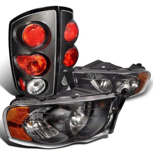 Ram 1500 Euro Black HeadlightRear Tail Lamp Ram 2500 3500