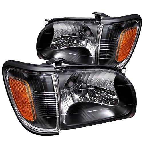Spec-D Tuning 2LCLH-TAC01JM-RS Toyota Tacoma Pre-Runner S-Runner Black Headlights w Corner Lamps