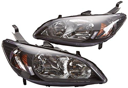 Spec-D Tuning 2LH-CV04JM-RS Honda Civic 24Dr Dx Lx Ex Crystal Jdm Black Headlights Lamps Pair