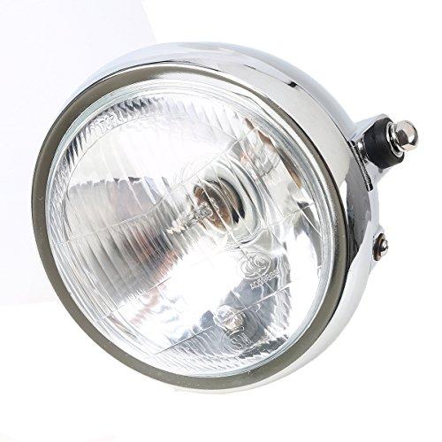 POSSBAY 6 Motorcycle Front Headlight High Low Beam Lamps 6V-12V Amber for Honda CG125