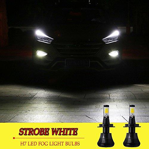 H7 LED Fog Light Bulb H7 Fog Bulbs White 6000K Strobe Flashing Lamps Car Trucks 12V 30W Accessories Universal Replacement Modification Bright New 2pcs【1797】 STROBE WHITE