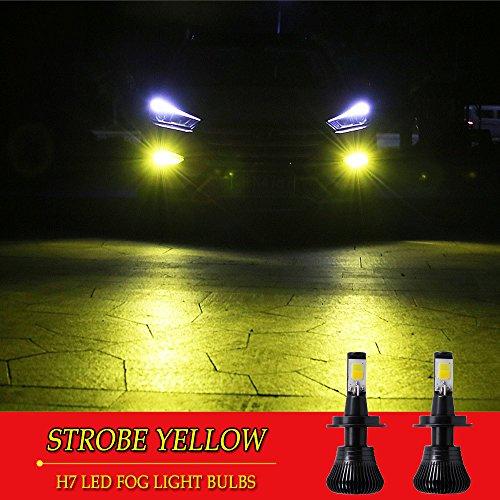 H7 LED Fog Light Bulb H7 Fog Bulbs Yellow 3000K Strobe Flashing Gold Lamps Car Trucks 12V 30W Accessories Universal Replacement Modification Bright New 2pcs【1797】 STROBE YELLOW