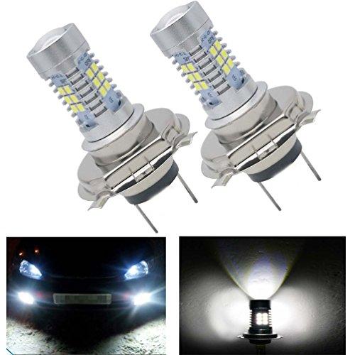KOOMTOOM LED Light Bulbs H7 12LEDS SMD Lens Bulbs Canbus Error Free for DRL Fog Lights Repalce Halogen HID Lights Brilliant WhiteSET