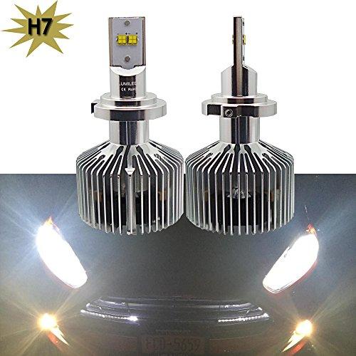 Nslumo 2x H7 PX26d LED Headlight Conversion Kit 90W 9000LM Philip Lumiled Head Light Single Beam High Low Kit Cool White 4000K Fog Light Bulbs H7 4000K