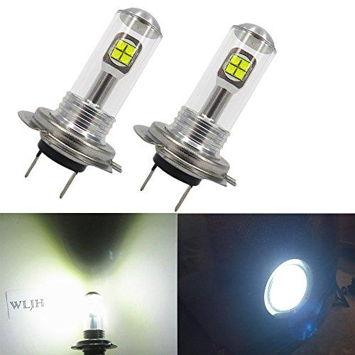 WLJH 2 Pack H7 LED Fog Light Bulb Low Beam 40W 1000Lumens 6000K Extremely Bright White Auto Car Daytime Running DRL Light Lamp
