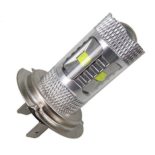WLJH 2pcs 30W Epistar Led Light H7 Headlight LED Bulb Automotive Driving Fog Light Daytime Running Light Xenon White