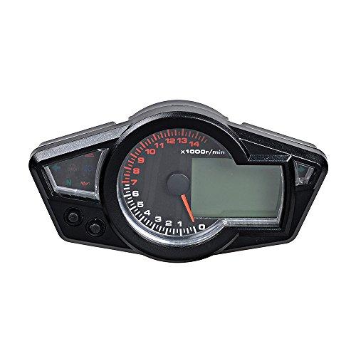 Motorcycle Odometer Speedometer Tachometer Gauge RPM 15000 Universal LCD Digital