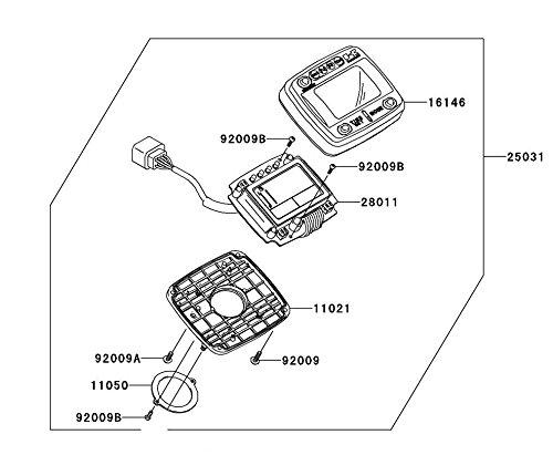 New OEM Kawasaki Teryx KRF 750 Digital Speedometer 99994-0110 Digi Speedo