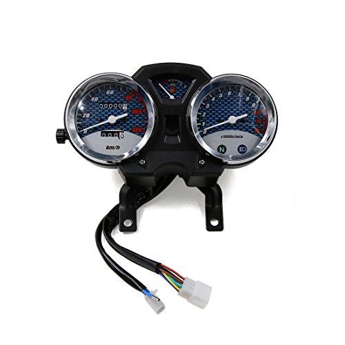uxcell 0-12000rmin Dual Digital Motorcycle Cruiser Odometer Tachometer Speedometer Oil Gauge