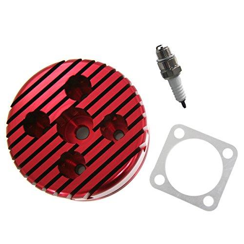 CNC Red Cylinder Head And Spark Plug Set For Racing 6680cc 2 Stroke Engine northtiger