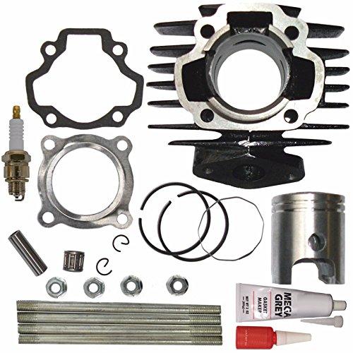 ZOOM ZOOM PARTS Cylinder FITS YAMAHA PW 50 PW50 QT 50 QT50 Piston Ring Gasket Top End Set Kit NEW