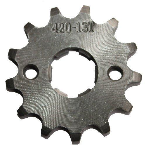420 Chain 13-tooth 20mm Engine Sprocket for 50cc-125cc ATV Dirt Bike Go Kart Pit Bike 4 Wheeler Quad Bikes