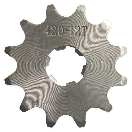 MC^MP 420 12-Tooth 17mm Engine Sprocket For 50cc 70cc 90cc 110cc 125cc ATV Dirt Pit Bike Go Kart Quad 4 Wheeler Dune Buggy