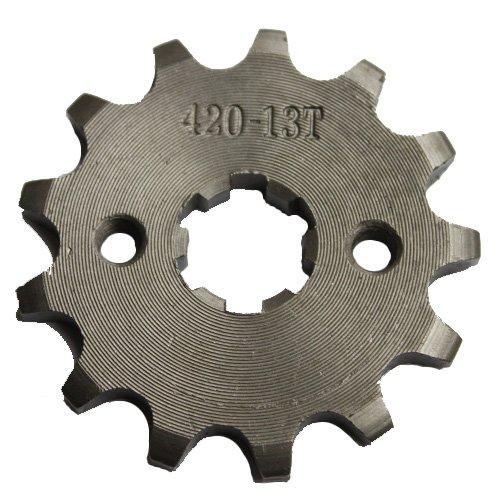 MC^MP 420 13-Tooth 17mm Engine Sprocket for 50cc 70cc 90cc 110cc 125cc ATV Dirt Bike Go Kart Go-karts Pit Bike 4 Wheeler
