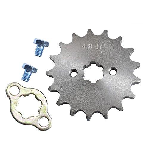 ZXTDR 428-17T 17mm 17 Teeth Engine Sprocket for Dirt Pit Bike