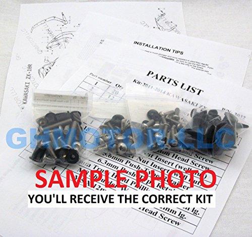 2003 2004 2005 2006 Honda CBR 600RR CBR600RR Complete Stainless Steel Motorcycle Fairing Bolts Kit
