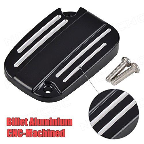 NICECNC Black Brake Master Cylinder Cover Fluid Cap for Touring Electra Road Glide Trike Street V-Rod VRSCA VRSCAW CVO FLHXSE FLHXSE2 FLHXSE3 FLHX