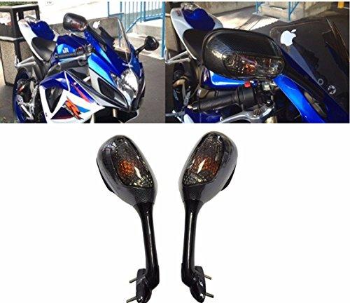 Carbon Suzuki GSXR 600 750 1000 K6 K7 Suzuki Turn Signal Integrated Mirrors 2005-2017