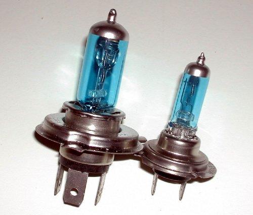 Suzuki GSXR 600 750 04-05 H4 H7 Xenon HID Hyper BluWht Headlight Bulb Bulbs