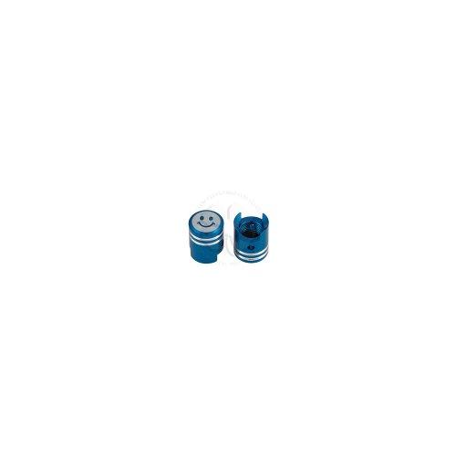 Valve Caps - Smiley Piston - Blue CNC Aluminum - HONDA CBR 600 F2 F3 F4 F4i RR SUZUKI GSXR 600 750 1000 1300 YAMAHA R6 R1 Ninja 250 500 ZX6R ZX6RR ZX7R ZX7RR ZX9R ZX10R ZX12R ZX14