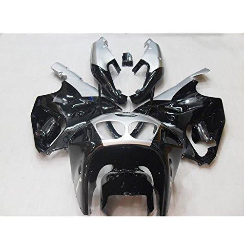 Wotefusi Brand New Motorcycle ABS Plastic Painted Compression Mold Bodywork Fairing Kit Set For Kawasaki Ninja ZX7R ZX-7R 1997 1998 1999 2000 2001 2002 2003 Black