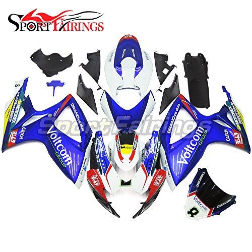 Sportfairings Complete Fairing Kit For Suzuki GSX-R750600 GSX-R600 GSX-R GSXR Year 2006 2007 K6 Fairings ABS Blue White Body Cover