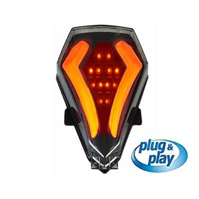 Integrated Led Tail Light BlackSmoke Yamaha R6 YEAR 200820092010201120122013201420152016