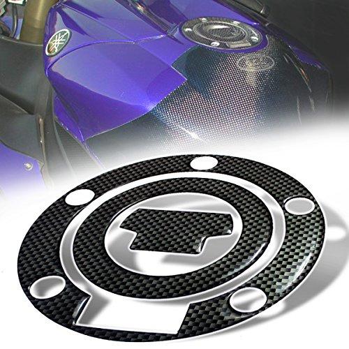 3D Gas Tank Fuel Cap Cover Protector Pad for Yamaha R1R6 YZFFZFJ Carbon Fiber Look