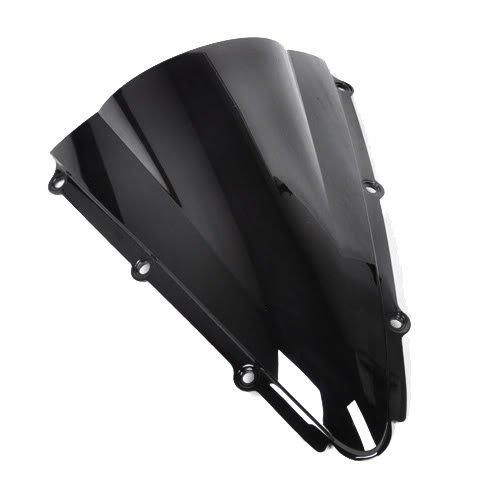Wotefusi Motorcycle Black Dark Smoke Windscreen Windshield For Yamaha R1 2000 2001