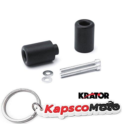 Krator 2000-2003 Honda CBR 929 954 RR No Cut Black Frame Sliders Crash Protectors Motorcycle  KapscoMoto Keychain
