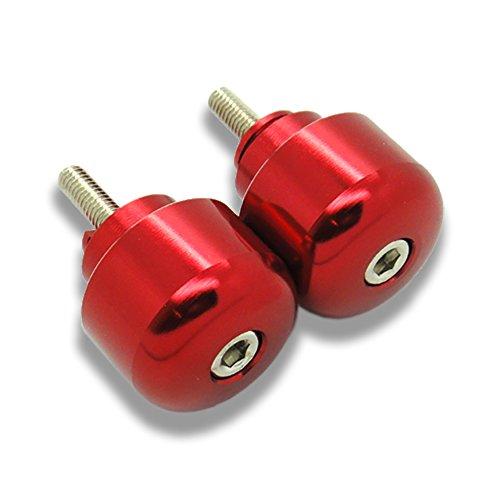 MIT Motors - RED - ROUND CNC Bar Ends - HONDA CBR 600 F1 F2 F3 F4 F4i 600RR 900RR 929RR 954RR 1000RR 1100XX CB 919 599 VFR800 VTR1000 RVT1000 RC51 GL1800